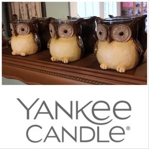 🆕Item🔥Yankee Candle Set Of 3 Owl Candle Holders
